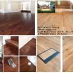 Engineered light walnut wood floor