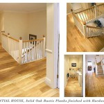 Solid oak rustic plants finished with hardwax oil