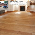 200mm semi-solid engineered planks. Country grade oak planks