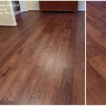 150mm engineered wood floor with a light walnut stain