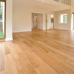 Engineered wooden floor large room