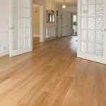Engineered wooden floor with french doors