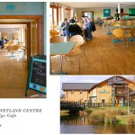 London Wetland Centre. Water's Edge Cafe with solid oak blocks flooring