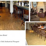 The Hoxton Hotel, London. Walnut & Oak Industrial Parquet