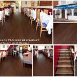 Gurkka Palace Nepalese Restaurant Vusta walnut luxury vinyl flooring