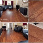 Solid wood floor with Sapele stain