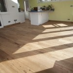 UK Wood Floors wooden floor in a green kitchen