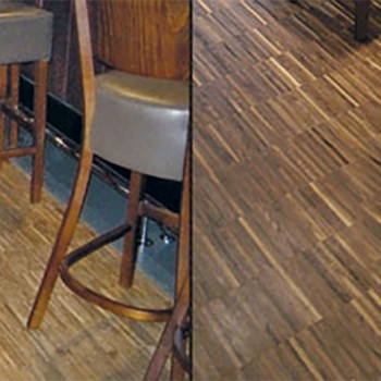 Industrial parquet block flooring
